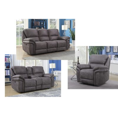 Creel Configurable 3 Piece Living Room Set Type: Manual
