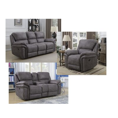 Creel Configurable 3 Piece Living Room Set Type: Power