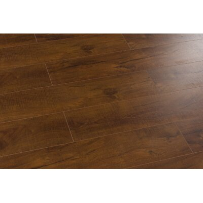 Huangshan Mountain 8 x 49 x 12mm Laminate Flooring in Brown (Set of 4)