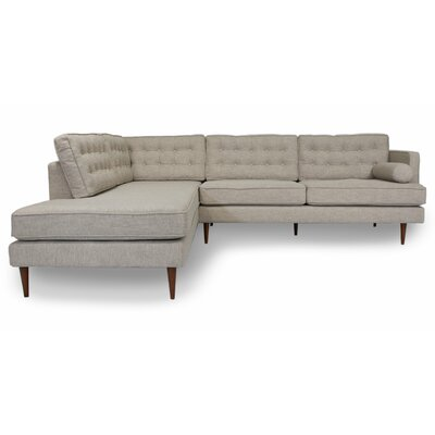 Chamorro Reversible Sectional Upholstery: Beige, Orientation: Left Hand Facing