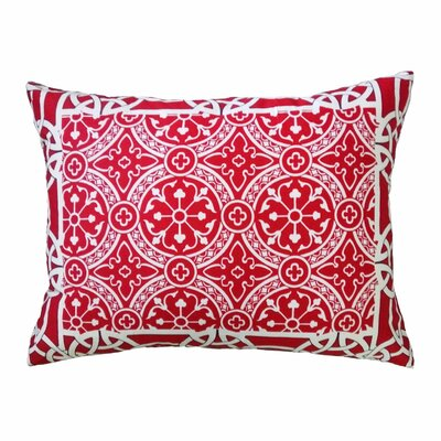 Cournoyer Big Medallion Bordered Throw Pillow