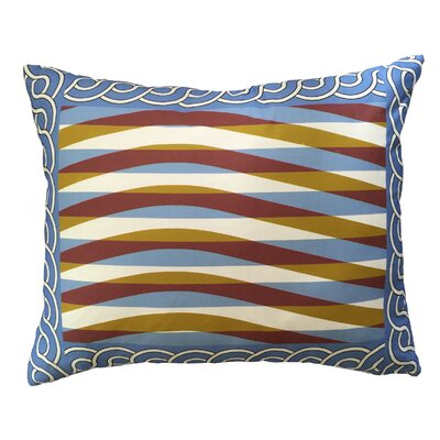 Bianca Shimmering Waves Bordered Throw Pillow