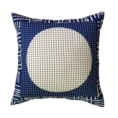 Baucom Circles of Circles Bordered Throw Pillow