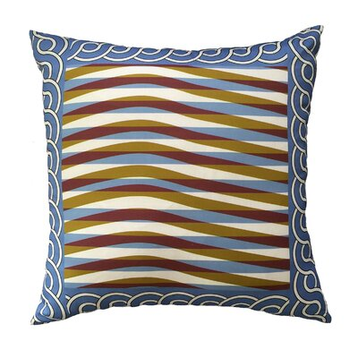 Ranieri Shimmering Waves Bordered Throw Pillow