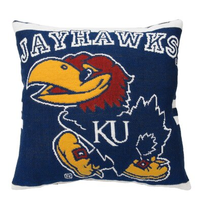 NCAA University of Kansas Throw Pillow
