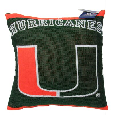 NCAA University of Miami Throw Pillow