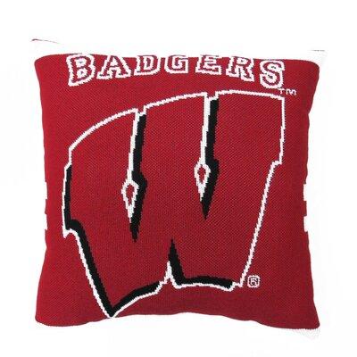 NCAA University of Wisconsin Throw Pillow