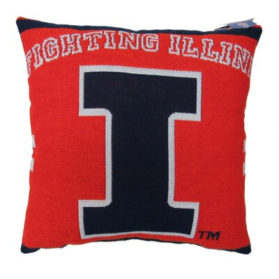NCAA University of Illinois Throw Pillow