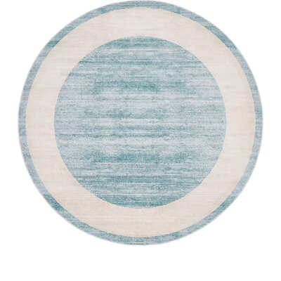 Uptown Turquoise Area Rug Rug Size: Round 8