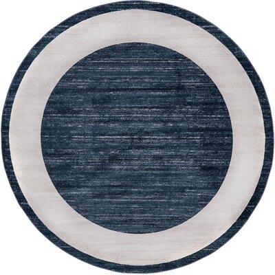 Uptown Navy Area Rug Rug Size: Round 8