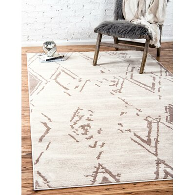 Uptown Beige Area Rug Rug Size: Rectangle 5 x 8