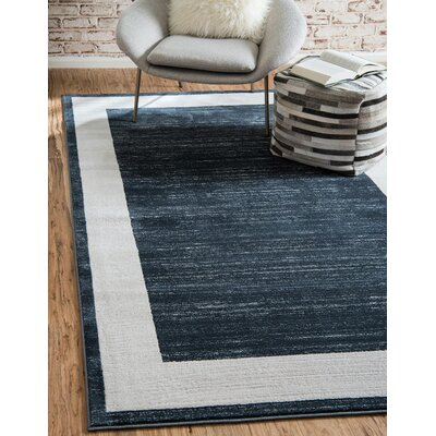 Uptown Navy Area Rug Rug Size: Rectangle 4 x 6