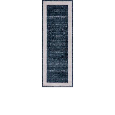 Uptown Navy Area Rug Rug Size: Runner 22 x 6