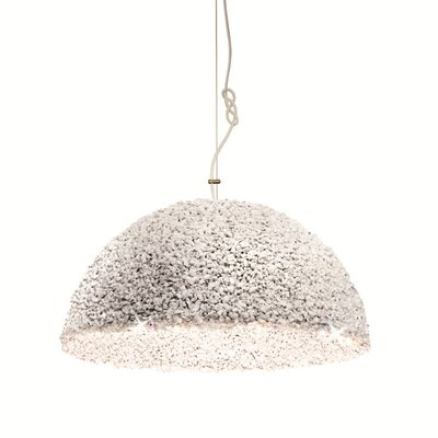 Duchess 1-Light Inverted Pendant Finish: White, Size: 78 H x 8 W x 8 D