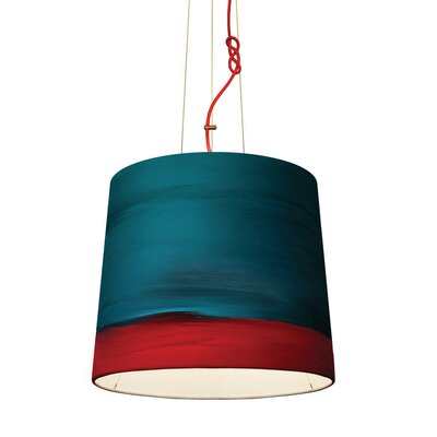 The Sisters 1-Light Drum Pendant Shade Color: Aurora, Size: 79 H x 17 W x 14 D