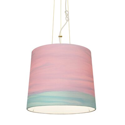 The Sisters 1-Light Drum Pendant Shade Color: Blossom, Size: 79 H x 17 W x 14 D