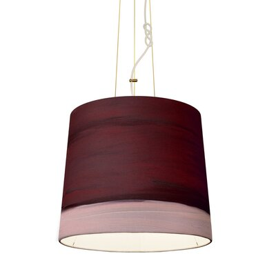 The Sisters 1-Light Drum Pendant Shade Color: Dawn, Size: 79 H x 17 W x 14 D
