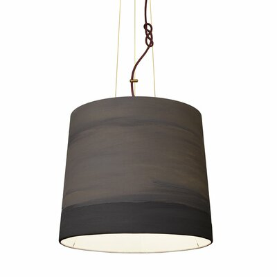 The Sisters 1-Light Drum Pendant Shade Color: Mist, Size: 79 H x 17 W x 14 D