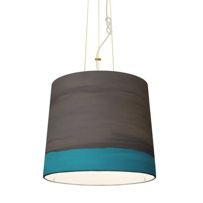 The Sisters 1-Light Drum Pendant Shade Color: Rain, Size: 79 H x 17 W x 14 D