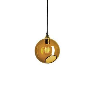 Ballroom Geometric Pendant Shade Color: Amber, Size: Medium