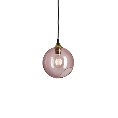 Ballroom Geometric Pendant Shade Color: Pink, Size: Medium