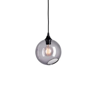 Ballroom Geometric Pendant Shade Color: Smoke, Size: Medium
