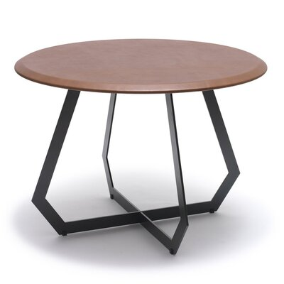The Fetish End Table Table Base Color: Black Zinc Alloy, Table Top Color: Antique Brown