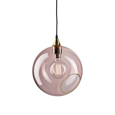 Ballroom Geometric Pendant Shade Color: Pink, Size: Extra Large