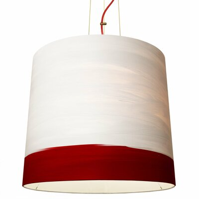 The Sisters 1-Light Drum Pendant Shade Color: Sunrise, Size: 79 H x 17 W x 14 D