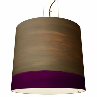 The Sisters 1-Light Drum Pendant Shade Color: Twilight, Size: 79 H x 17 W x 14 D