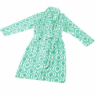 Ivan Microfiber Flannel Fleece Bathrobe Size: Small, Color: Cascade
