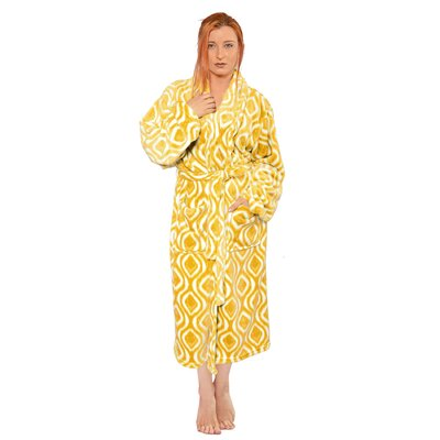 Ivan Microfiber Flannel Fleece Bathrobe Size: Small, Color: Samoan Sun