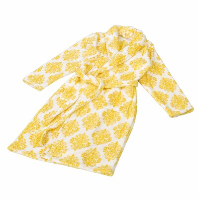Jules Microfiber Flannel Fleece Bathrobe Size: Large, Color: Samoan Sun