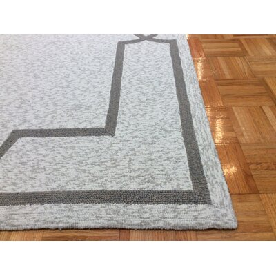 Hamptons Madison Hand-Hooked Oatmeal Indoor/Outdoor Area Rug Rug Size: Rectangle 3 x 5