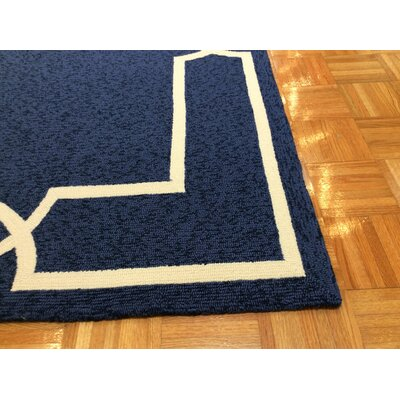 Hamptons Madison Hand-Hooked Ocean Indoor/Outdoor Area Rug Rug Size: Rectangle 8 x 11