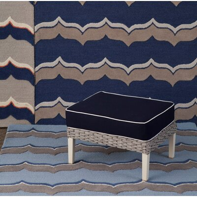 Soho Featherstone Hand-Tufted Wool Indigo/Pumice Area Rug Rug Size: Rectangle 33 x 53