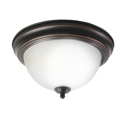 Emmert 1-Light Flush Mount Fixture Finish: Oil Rubbed Bronze