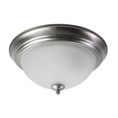 Emond 2-Light Flush Mount Fixture Finish: Brushed Nickel