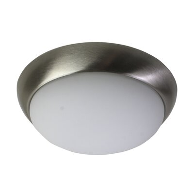 Crotts LED Flush Mount Fixture Finish: Brushed Nickel