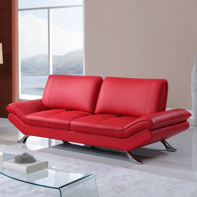 "Global Furniture USA 90"" Sofa - Color: Natalie Red"