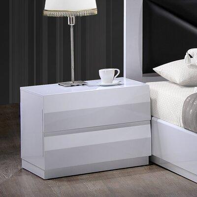 Global Furniture USA Bailey 2 Drawer Nightstand