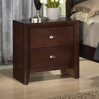 Global Furniture USA Carolina 2 Drawer Nightstand - Finish: Cherry