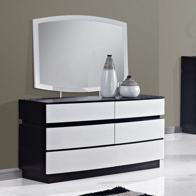 Catalina 6 Drawer Dresser with Mirror
