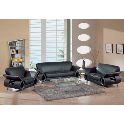 Living Room on Furniture Usa Clark 3 Pc  Leather Living Room Set   559 Series
