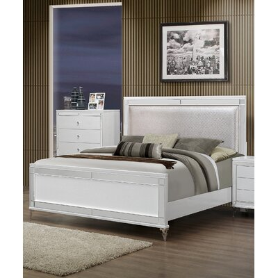Catalina Upholstered Panel Bed Size: King