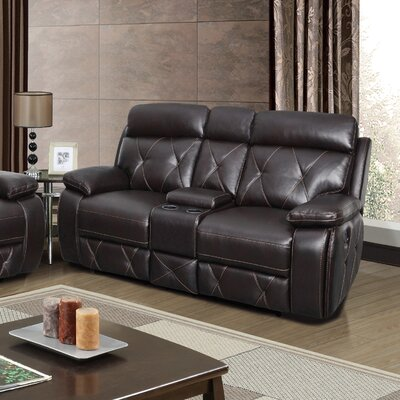 U2133-C/R/L(M) GQ3590 Global Furniture USA Agnes Leather Reclining Loveseat