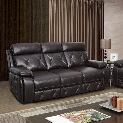 U2133-R/S(M) GQ3589 Global Furniture USA Agnes Leather Reclining Sofa