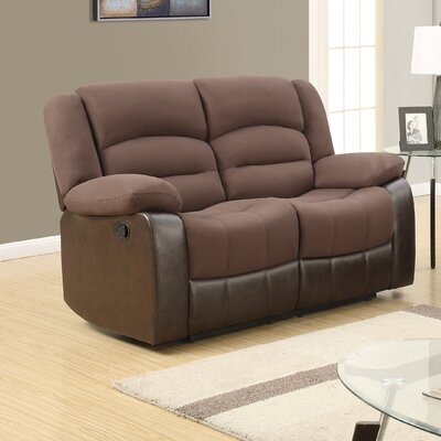 U98243 – D128/CHOCOLATE PU – RLS GQ3599 Global Furniture USA Reclining Loveseat