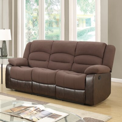 U98243 – D128/CHOCOLATE PU – RS GQ3598 Global Furniture USA Reclining Sofa