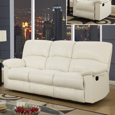U99270 – WHITE – RS GQ3601 Global Furniture USA Reclining Sofa